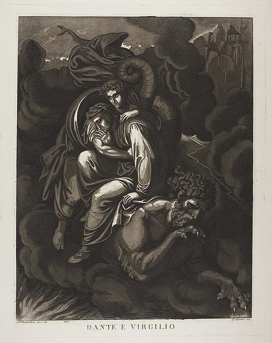 Dante og Vergil på uhyret Geryon