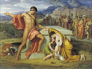 J.L. Lund, Pyrrhus og Andromache ved Hektors grav, 1807-11, Statens Museum for Kunst