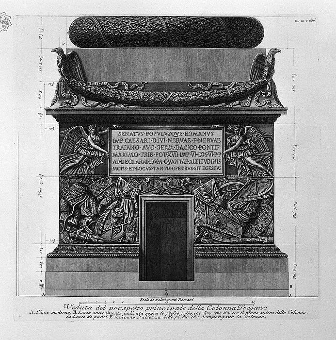 Giovanni Battista Piranesi, Trajansøjlens piedestal og base