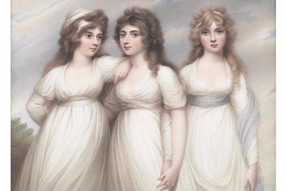 Henry Bone, The Three Graces, The Ladies Rushout, 1809, kopi efter Andrew Plimer, ukendt placering