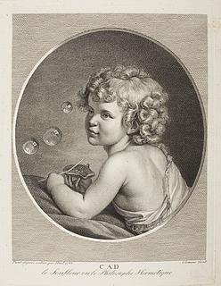 Dreng der blæser sæbebobler