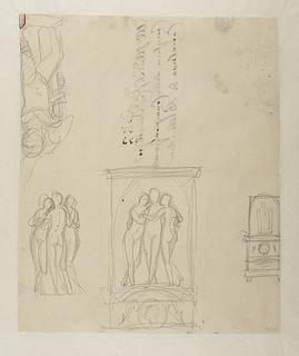 De tre gratier til monument over Andrea Appiani. Mars og Amor