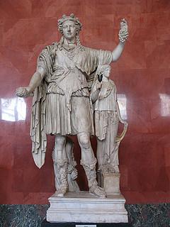 Dionysos med Håbets gudinde, romersk kopi efter antik græsk skulptur, marmor, 2. århundrede, Eremitagen, Sankt Petersborg