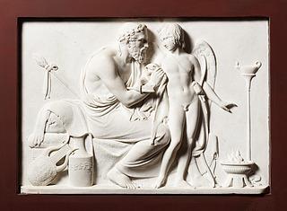 Bertel Thorvaldsen: Amor hos Anakreon, Vinteren, 1823 (Copyright tilhører Thorvaldsens Museum)