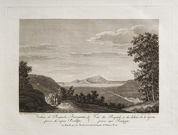 Veduta di Bagnoli, e Fuirogrotta preso da sopra Posillipo