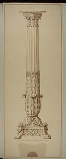 G.F. Hetsch, kandelaber, tegning, Thorvaldsens Museum, inv.nr. D 828