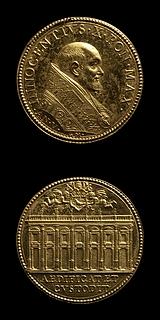 Medalje forside: Innocent 10. Medalje bagside: Musei Capitolini
