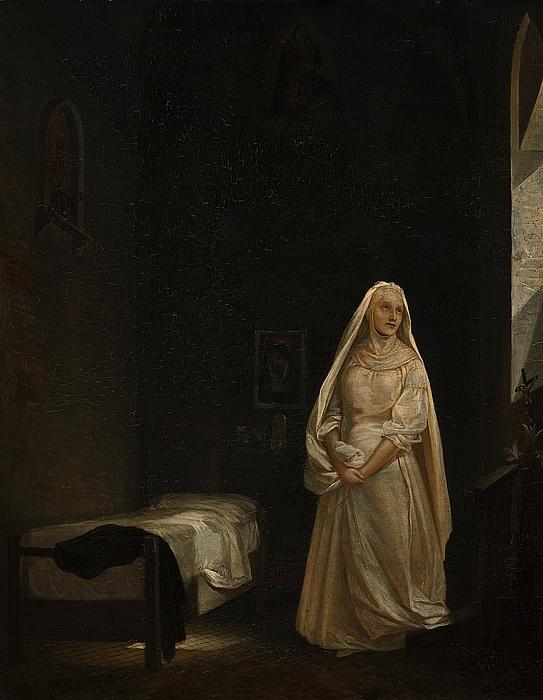 En nonne i sin celle