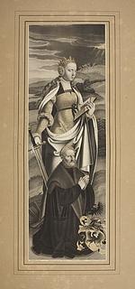 Sankt Catharina og en stifter