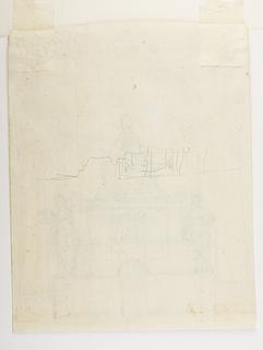 Pius 7.s monument (?), grundplan
