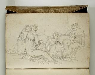 Fire siddende kvinder