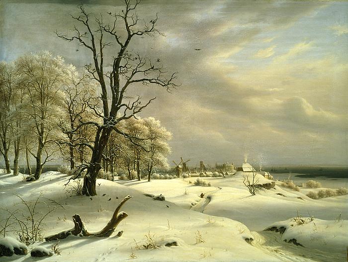Helsingør mod Kronborg, vinter
