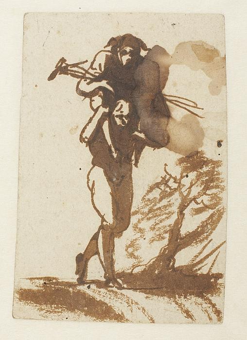 Mand, der bærer anden mand på ryggen