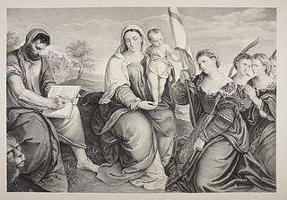 Maria med barnet, Markus, Sankt Ursula (?) and hendes følge