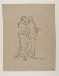 To mænd i klassiske klædedragter
