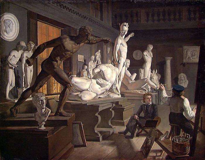 Knud Baade, Fra Kunstakademiet i København, 1827-1828