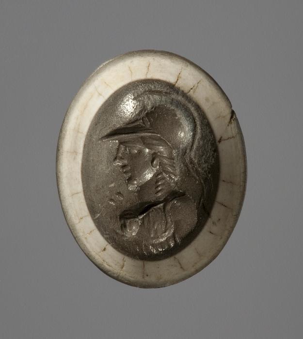 Buste af Athene. Hellenistisk-romersk ringsten