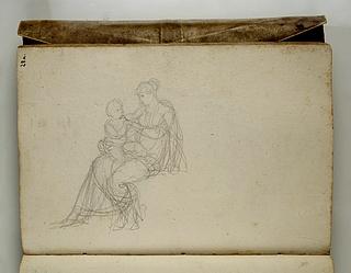 Kvinde siddende med et barn