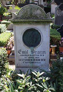Gravmæle for Emil Braun, Cimitero Acattolico