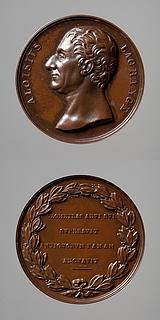 Medalje forside: Aloysius Lagrange. Medalje bagside: Laurbærkrans og inskription
