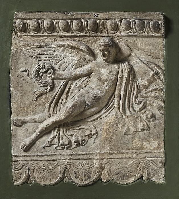 Campanarelief med bevinget yngling (Eros?). Romersk