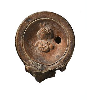 Lampe med buste af Luna. Romersk
