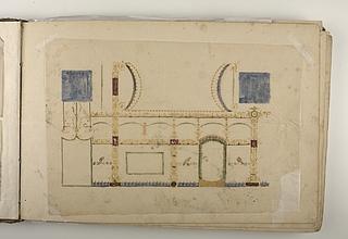 Loftsdekoration i pompejansk stil