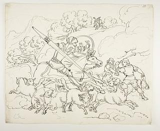 Don Quixote angriber fåreflokken