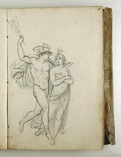 Bertel Thorvaldsen: Psyche bæres op til himlen af Merkur (Copyright tilhører Thorvaldsens Museum)