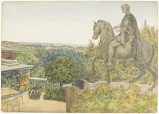 Józef Poniatowski-statuen på godset Homel