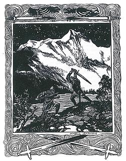 Hugo L. Braune: Slagfidur og Egil kæmper, ca. 1900