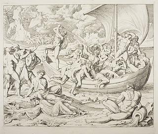 Dante besvimer ved ankomsten til Caronte