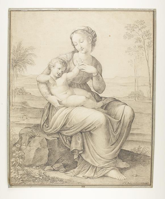 Maria med barnet på skødet