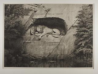 Døende løve (Schweizerløven) i Lucerne