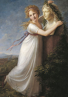 P.F. Hetsch: Ida Brun ved sin mors buste, 1803