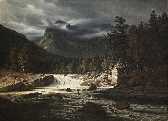 Norsk landskab, Marumfoss