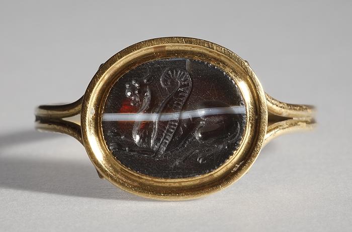 Bevinget løve. Græsk hellenistisk ringsten