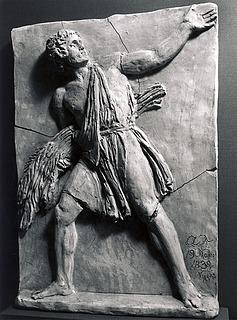 Ung mand med et knippe palmegrene under armen