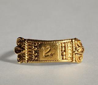 Fingerring med en grif. Etruskisk