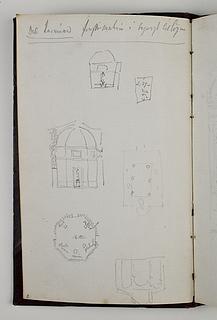 La Tribuna i Galleria degli Uffizi, plan og snit