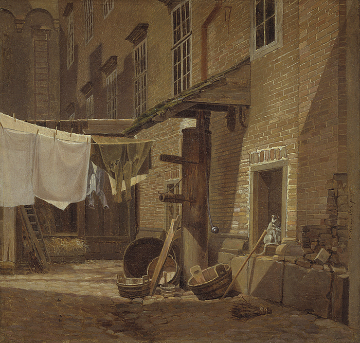F. Sødring, Baggård på Charlottenborg, 1828, SMK