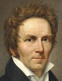 J.L. Lund: Selvportræt, 1827, udsnit