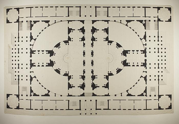Råd- og Domhus i romersk stil, grundplan