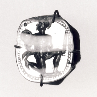 Diomedes med Palladiet. Romersk republikansk ringsten