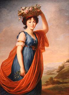 Elisabeth Louise Vigée-LeBrun: Jevdokija Ivanovna Golitsyna, olie på lærred, 137 x 99 cm, 1799, Utah Museum of Fine Arts, Salt Lake City