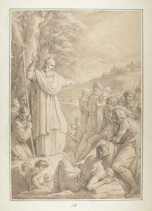 Helgen prædiker Evangeliet