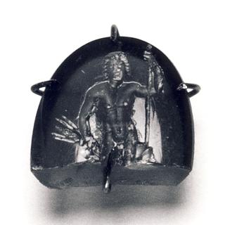 Zeus med tordenkile og scepter. Hellenistisk-romersk ringsten
