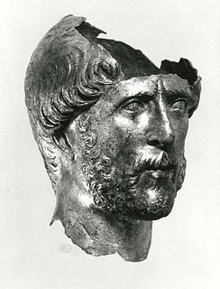 Miniatureportræt af en mand. Romersk