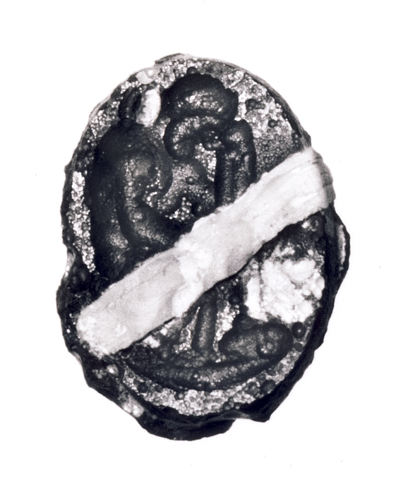 Ajax (?) siddende. Romersk republikansk paste