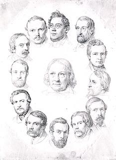 Thorvaldsen blandt landsmænd, juleaften 1841 i Rom
